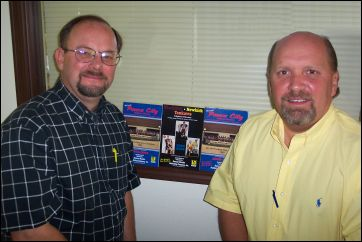 Dean Meador (L) and Tim Dancey (R)  Owners of Dancey-Meador Publishing Company